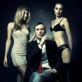 trio con escorts de lujo de agencia de alto standing